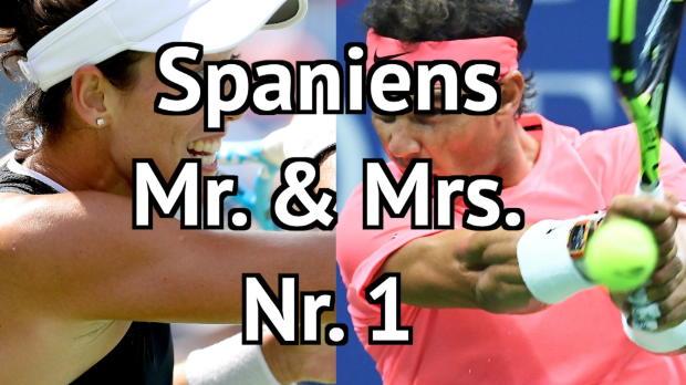 Muguruza und Nadal erklimmen Tennis-Thron
