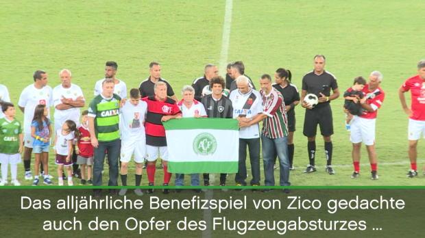 Neymar zu Gast bei Zicos Benefizspiel