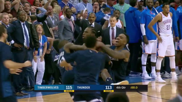 WSC: Andrew Wiggins beats the buzzer vs the Thunder