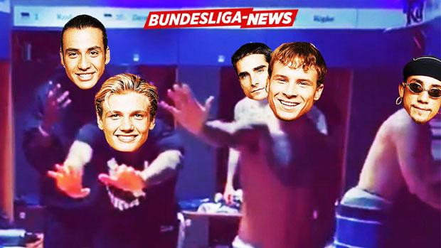 Welche Bundesliga-Stars machen hier auf Backstreet Boys?