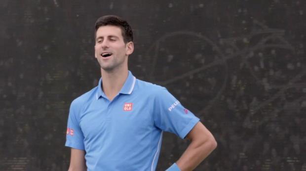 New York: Tennis-Künstler sorgt für Staunen