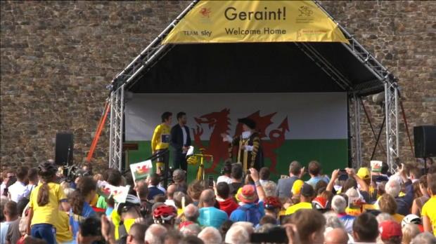 Tour de France - Geraint Thomas accueilli en héros chez lui à Cardiff