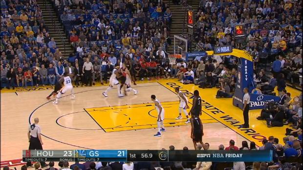 La brillante actuación de Curry ante los Rockets