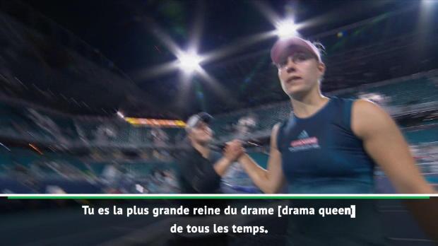 "Basket : Miami - Kerber traite Andreescu de ""drama queen"""