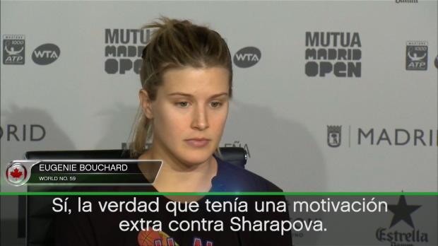 Bouchard, tras ganar a  Sharapova