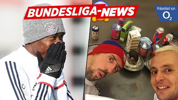 Von Ribery und Rafinha erwischt! | Alaba mopst Essen aus der Bayern-Küche