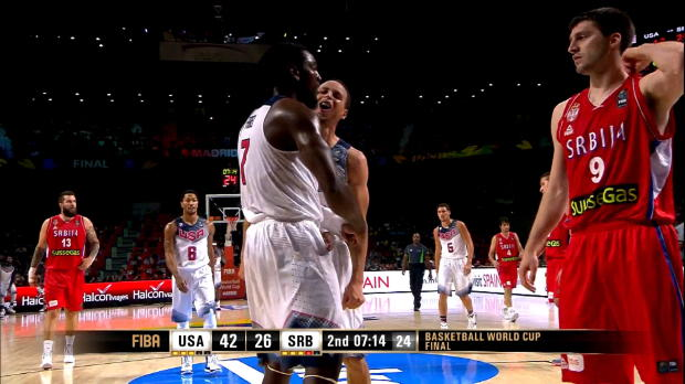 Basket : FIBA - Mondial - Le dunk sensationnel de Kenneth Faried