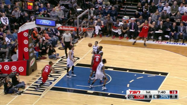 WSC: Bismack Biyombo with 6 Blocks against the Timberwolves