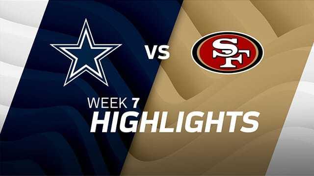 Cowboys vs. 49ers highlights | Week 7