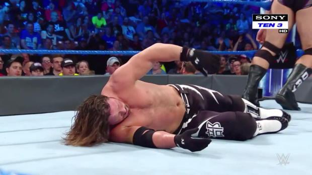 AJ Styles & Jeff Hardy vs. Rusev & Shinsuke Nakamura: SmackDown LIVE, 10 July, 2018