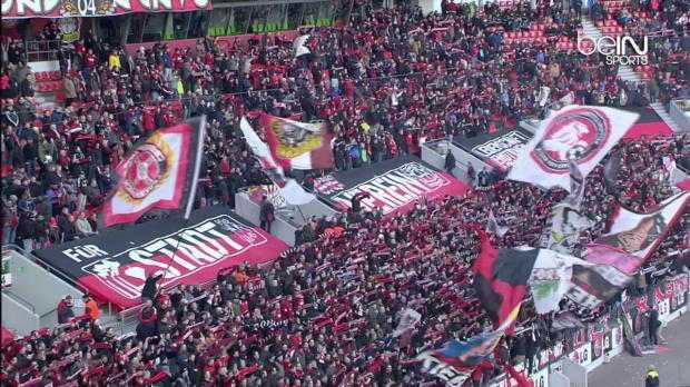 Bundes : Bayer Leverkusen 1-1 Gladbach