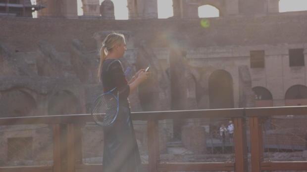 """Sharapova """"desafía"""" al coliseo romano"""