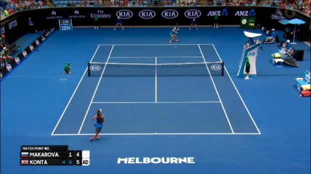 تنس: بطولة أستراليا المفتوحة: كونتا تسقط ماكاروفا وتضرب موعدا ساخنا مع سيرينا
