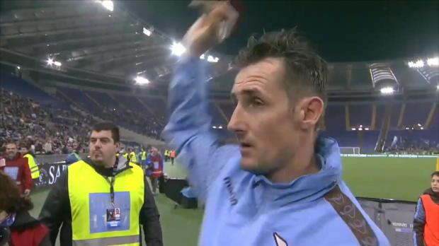 Miro Klose sagt Ciao - Die Ehrenrunde im Olympico