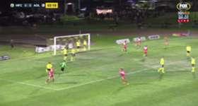 Nikola Mileusnic gave Adelaide United an early lead against Heidelberg United with a close range strike.