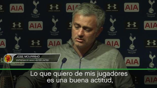 Esto le pide Mourinho a sus jugadores contra el Ajax