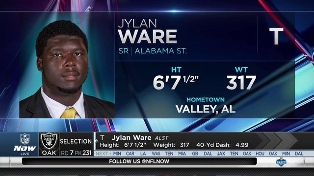 Raiders select Jylan Ware No. 231 in the 2017 NFL Draft