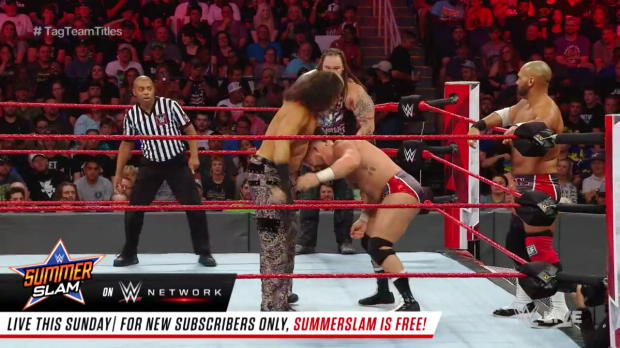 The B-Team vs. The Deleters of Worlds vs. The Revival - Raw Tag Team Championship Triple Threat Match: Raw, Aug. 13, 2018