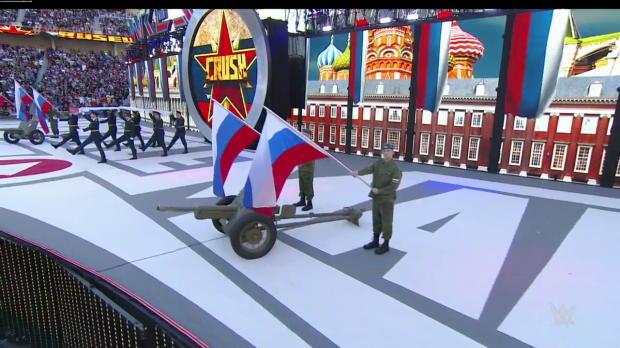 Rusev enters WrestleMania in a tank: WrestleMania 31