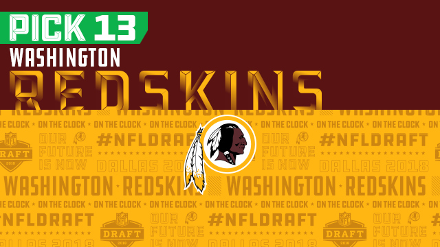 Washington Redskins pick No. 13 | NFL Mock Draft Live