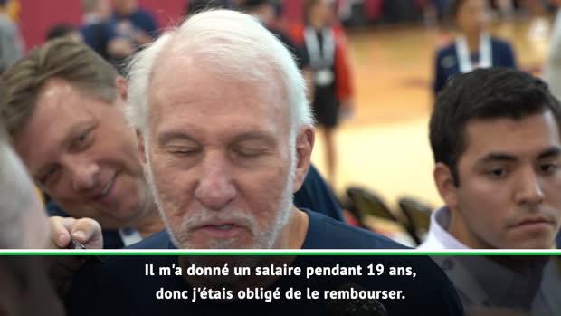"Basket : NBA - Popovich - ""Tim Duncan n'y connaît rien en coaching"""