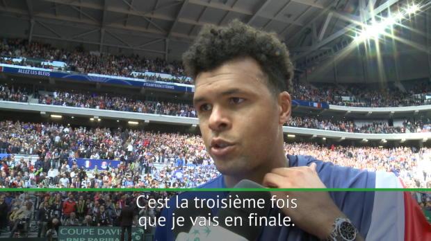 """Tennis : Coupe Davis - Tsonga - """"Impatients de jouer la finale"""""""