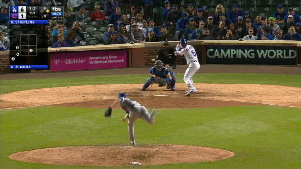 Almora Jr.'s double into the ivy