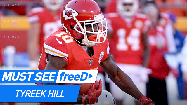 freeD: Tyreek Hill gets the edge vs. TJ Carrie for 44-yard catch | Week 14
