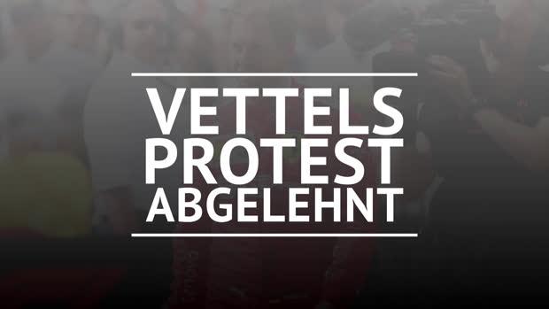 F1: Protest abgelehnt, Vettel-Strafe bleibt