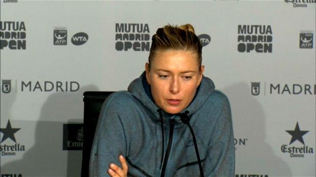 Madrid: Sharapova: Versuche alles auszublenden