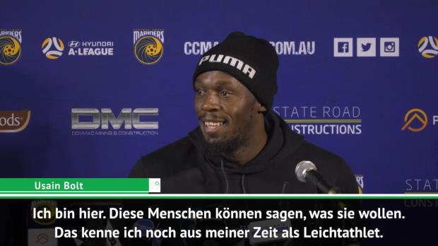 A-League: Bolt verteidigt seinen Fußball-Traum