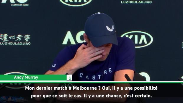 : Open d'Australie - Murrray - 'Mon dernier match à Melbourne ? Il y a des chances'