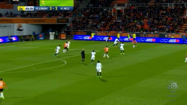 لقطة: كرة قدم: تناغم لاعبي لوريان يفضي إلى هدف أنيق أمام متز
