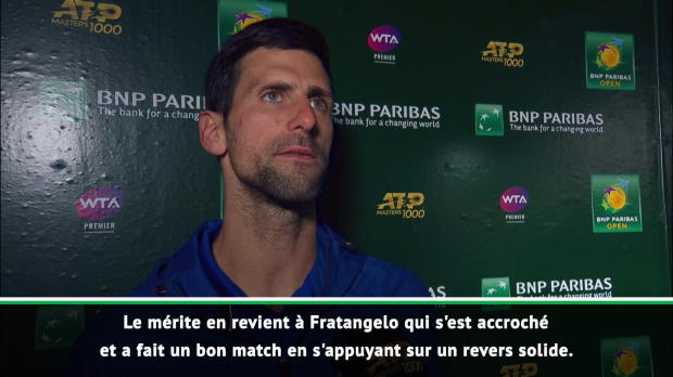 : Indian Wells - Djokovic - 'J'ai trop voulu impressionner Sampras'