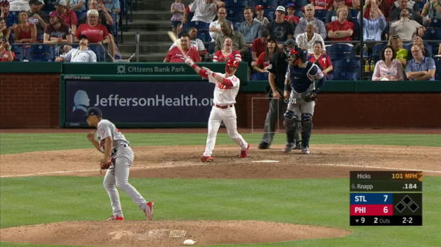 Hicks' 101-mph pitch ends game