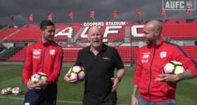 Triple M's Jars stopped by to pump the boys up ahead of our crucial AFC Champions League game against Jiangsu Suning on Tuesday, May 9. Then a crossbar challenge broke out...