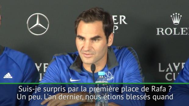 """Basket : ATP - Federer """"un peu surpris par la première place de Nadal"""""""
