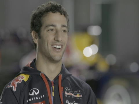 Ricciardo put through paces