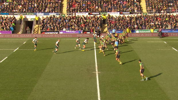 Aviva Premiership - Harry Thacker?s great try against Northampton Saints