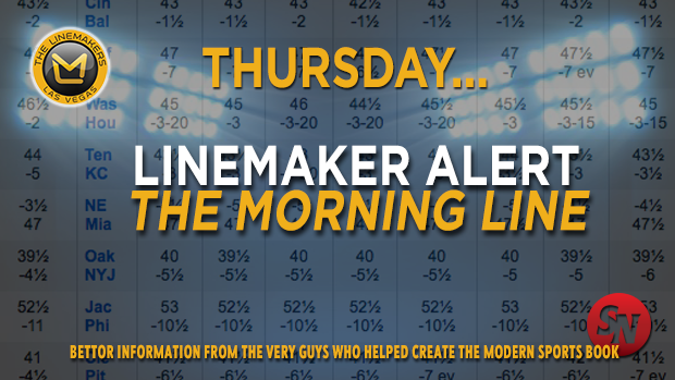 The Morning Line for Thursday, October 9th