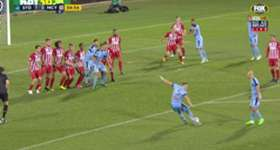 Jordy Buijs fired Sydney FC 1-0 up over Melbourne City with a stunning free kick in their FFA Cup Quarter Final clash.