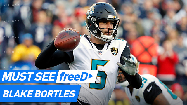 freeD: Bortles drops a dime to Cole for a beautiful over-the-shoulder catch | AFC Championship Game