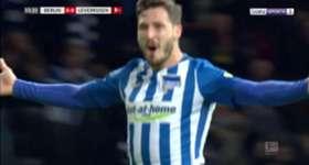 Caltex Socceroos winger Mathew Leckie scored his fourth goal of the Bundesliga season in Hertha Berlin's win over Bayer Leverkusen.