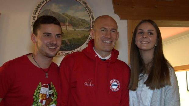 Robben sucht Fan-Nähe bei Fanclub am Tegernsee
