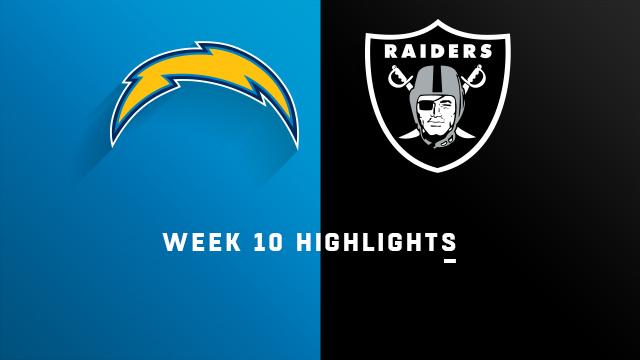 Chargers vs. Raiders highlights   Week 10