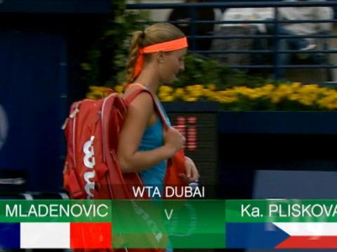 تنس: بطولة دبي: ملادينوفيتش تتخطّى بليسكوفا 2-6 و4-6