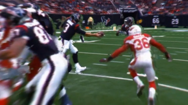 freeD: Buda Baker blitzes the backfield to stuff Lamar Miller for a loss of 3 | Week 11