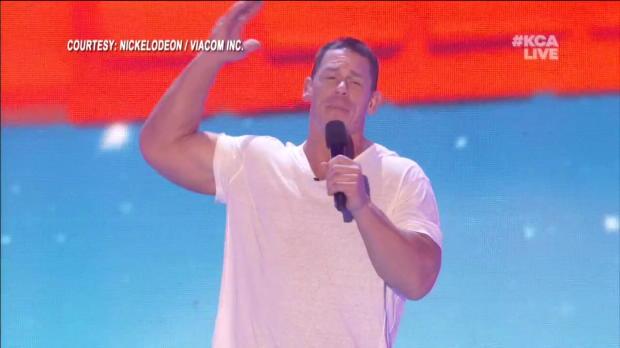 John Cena's slime is now at Nickelodeon's 2018 Kids' Choice Awards