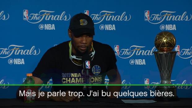 """Basket : Finales - Durant - """"Je n'avais pas bu de bière depuis février"""""""