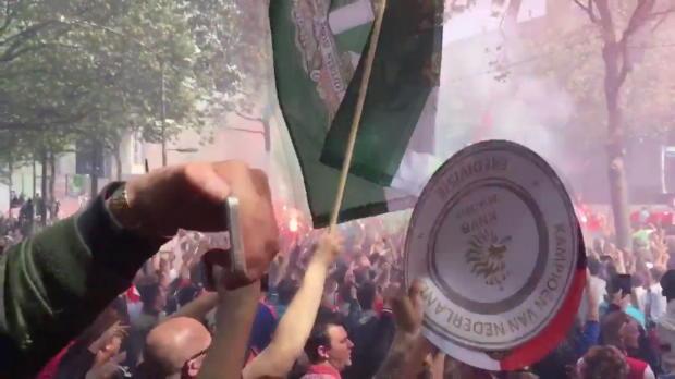 Pays-Bas - Les supporters du Feyenoord ont fêté le titre